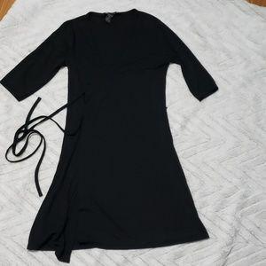 Womens Express black wrap dress size 3/4